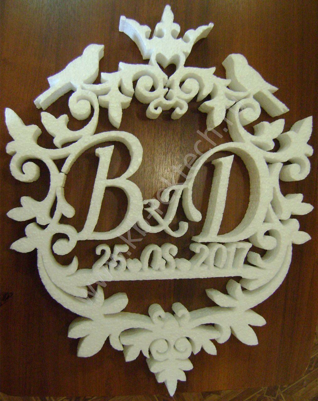 Свадебный герб своими руками из пенопласта